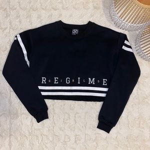 Civil Regime Black Cropped Sweatshirt - Medium
